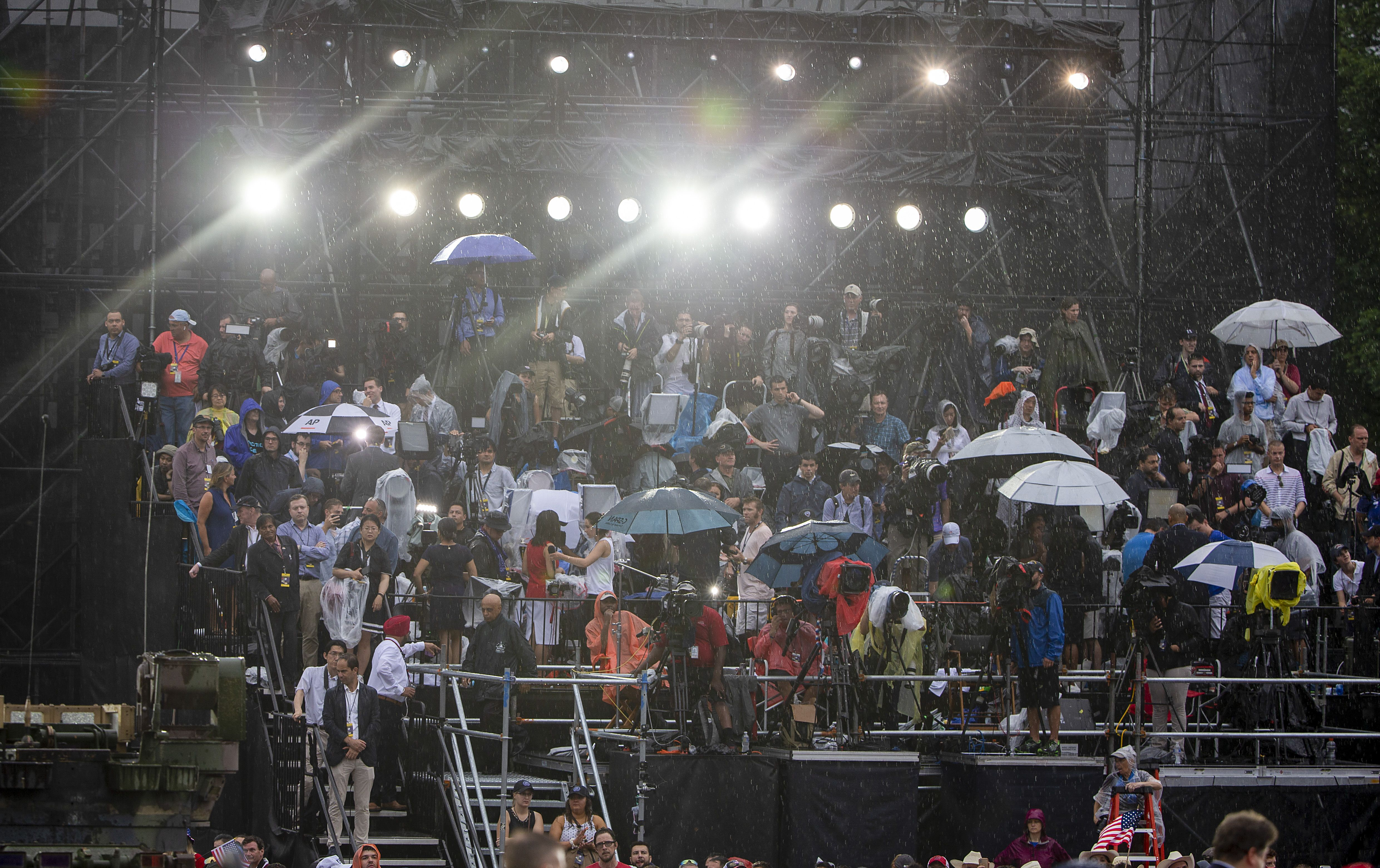 Trump Praised Nonexistent Airports During His Rain-Drenched Event