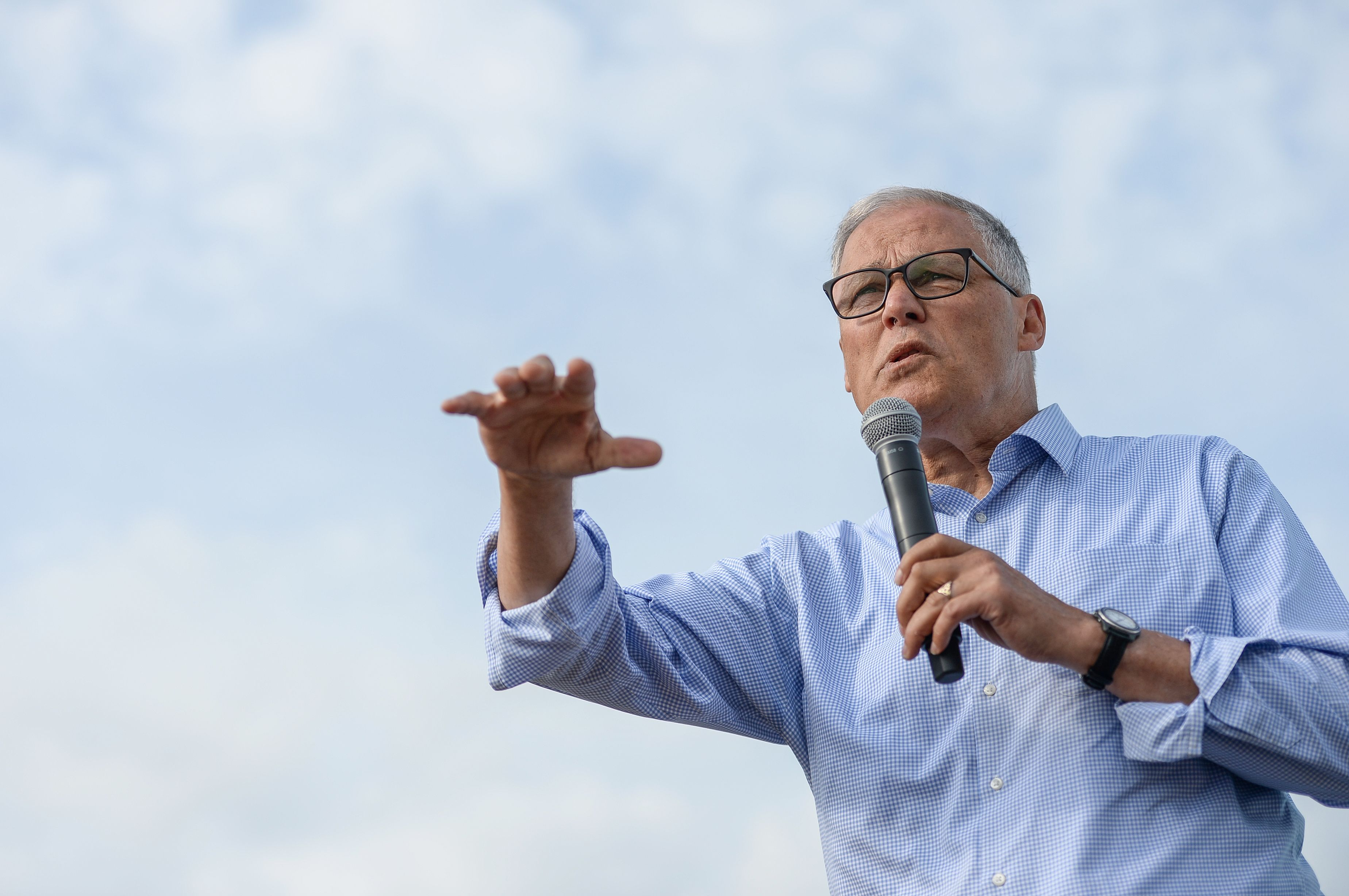 Jay Inslee Made the Case That the Climate Crisis Is Lurking Beneath Every Other Issue