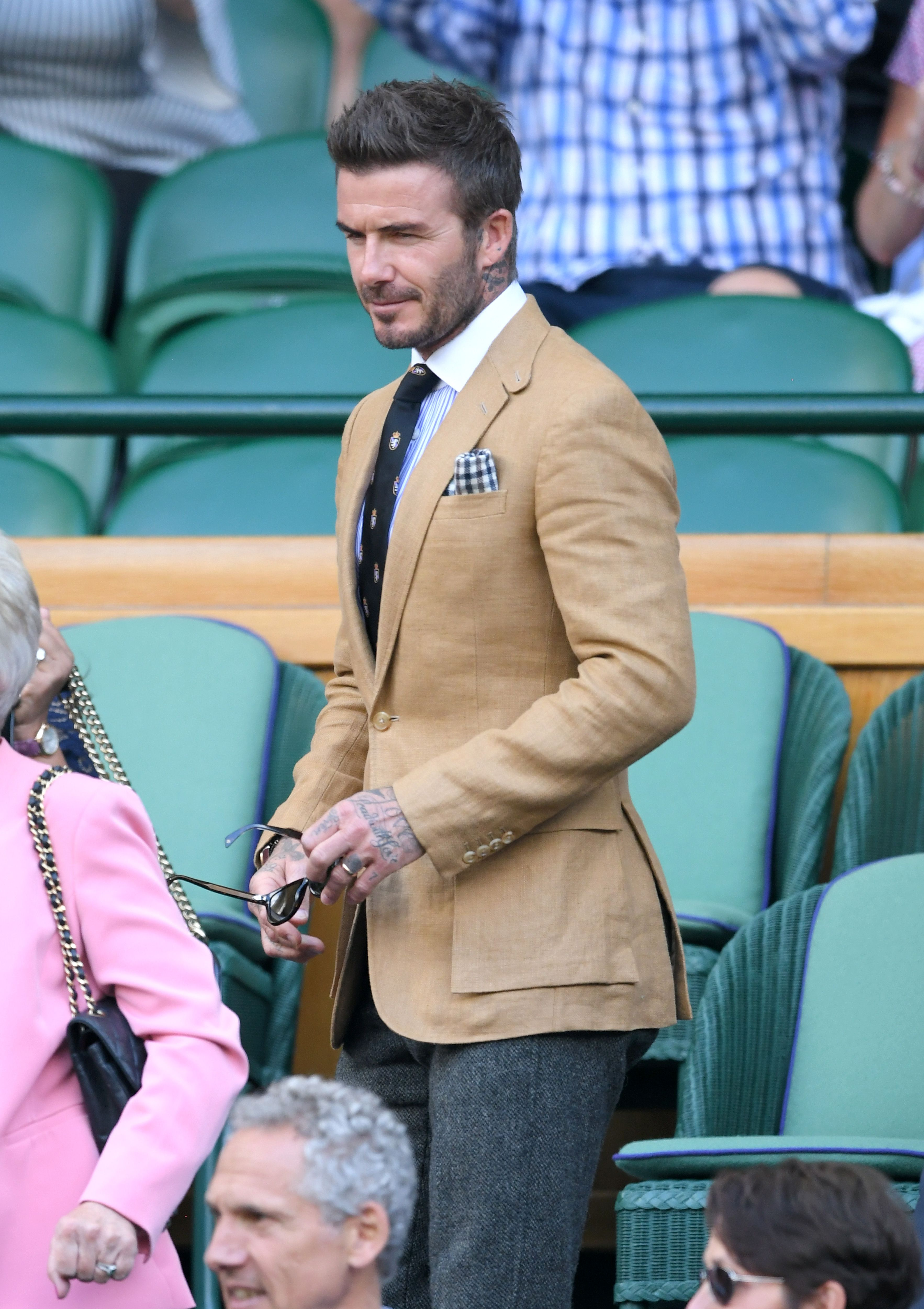 Game, Set And Match To David Beckham's Centre Court Suit