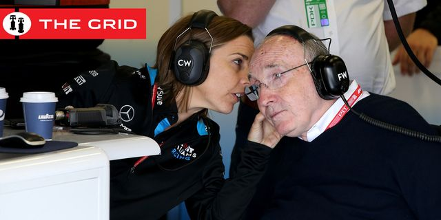 northampton, england   july 12 sir frank williams and williams deputy team principal claire williams talk in the williams garage during practice for the f1 grand prix of great britain at silverstone on july 12, 2019 in northampton, england photo by charles coatesgetty images