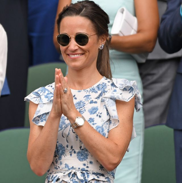 london, england   july 13 pippa middleton in the royal box on centre court during day twelve of the wimbledon tennis championships at all england lawn tennis and croquet club on july 13, 2019 in london, england photo by karwai tanggetty images