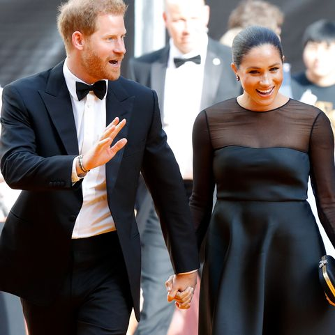 london, united kingdom   july 14 embargoed for publication in uk newspapers until 24 hours after create date and time prince harry, duke of sussex and meghan, duchess of sussex attend the lion king european premiere at leicester square on july 14, 2019 in london, england photo by max mumbyindigogetty images