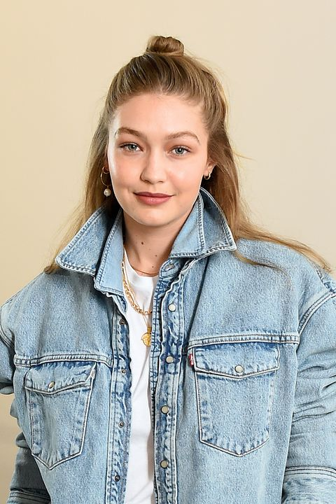 new york, new york   july 17 gigi hadid attends the wardrobenyc launch of release 04 denim  levis® collaboration on july 17, 2019 in new york city photo by ilya s savenokgetty images for wardrobenyc