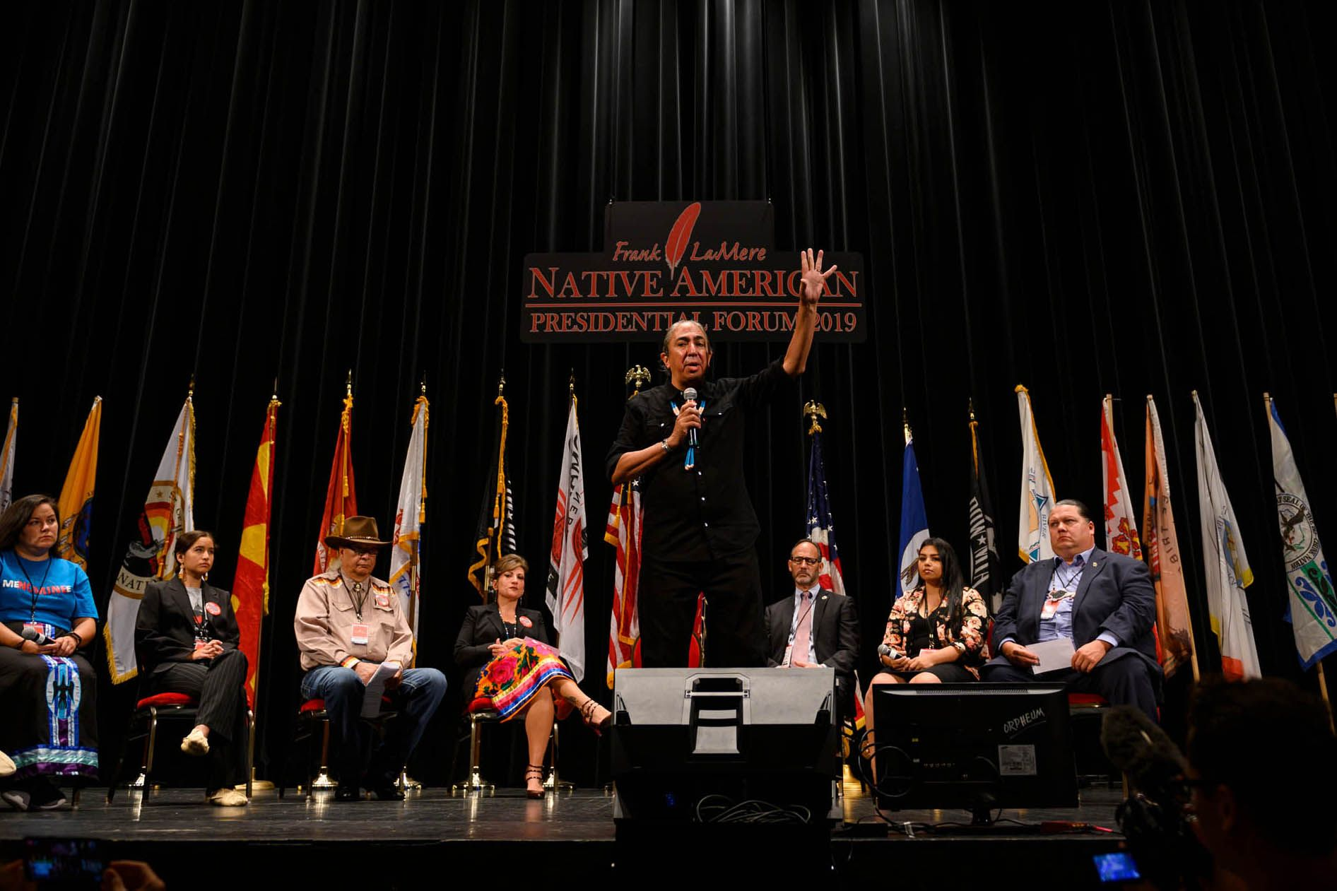 Elizabeth Warren Was Well-Received at the Native American Presidential Forum. Mark Charles Was the Main Event.
