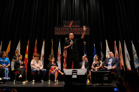 Democratic Presidential Candidates Attend Frank LaMere Native American Presidential Forum In Iowa