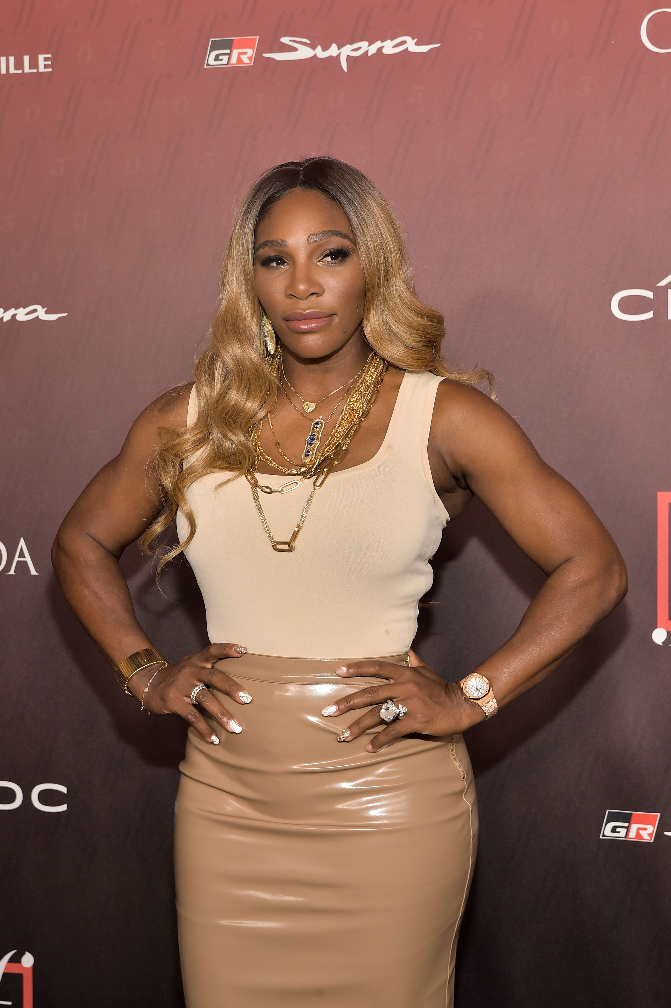 Serena Williams Debuts a New Ombre Hair Color at the 'Sports Illustrated' Party