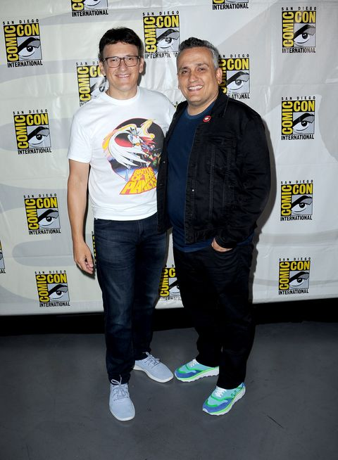 san diego, california   july 19 anthony russo and joe russo attend a conversation with the russo brothers during 2019 comic con international at san diego convention center on july 19, 2019 in san diego, california photo by albert l ortegagetty images