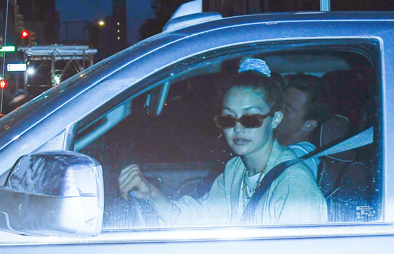 Gigi Hadid Wears Sunglasses on a Nighttime Date With Tyler Cameron