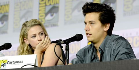 Lili Reinhart and Cole Sprouse at San Diego Comic-Con 2019
