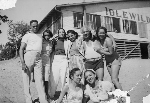 portrait of a group of unidentified people friends andor family members of future newspaper publisher john h sengstacke as they pose on the beach outside the idlewild club house, idlewild, michigan, september 1938 idlewild, known as the black eden, was a resort community that catered to african americans, who were excluded from other resorts prior to the passage of the civil rights act of 1964 photo by the abbott sengstacke family papersrobert abbott sengstackegetty images