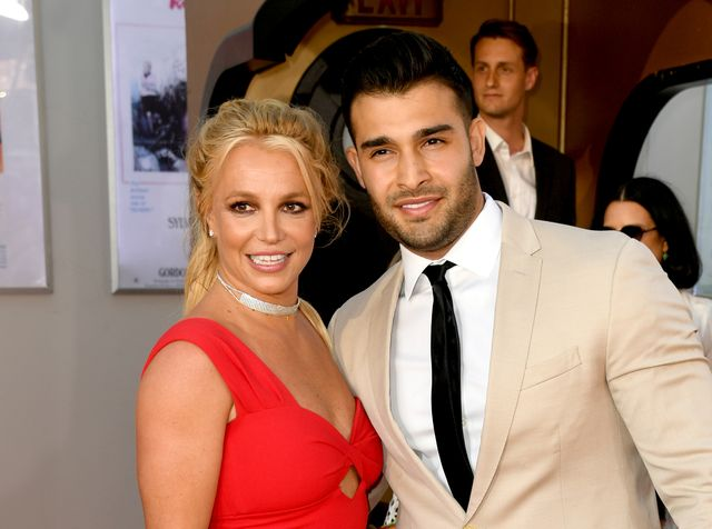 hollywood, california   july 22 britney spears l and sam asghari arrive at the premiere of sony pictures one upon a timein hollywood at the chinese theatre on july 22, 2019 in hollywood, california photo by kevin wintergetty images