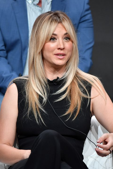 beverly hills, california july 23 kaley cuoco from harley quinn speaks onstage at the dc universe panel during the 2019 summer tca press tour at the beverly hilton hotel on july 23, 2019 in beverly hills, california photo by amy sussmangetty images