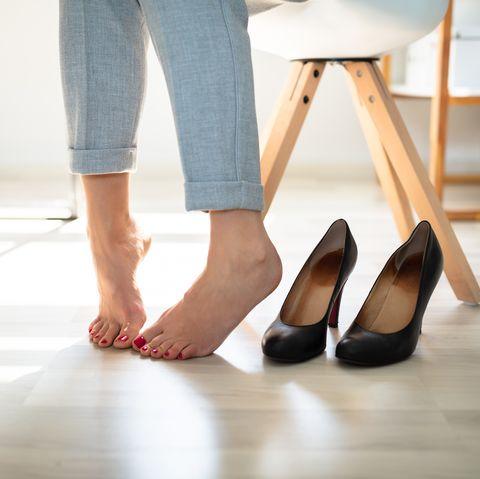 Smelly shoesWoman's Leg Near High Heels