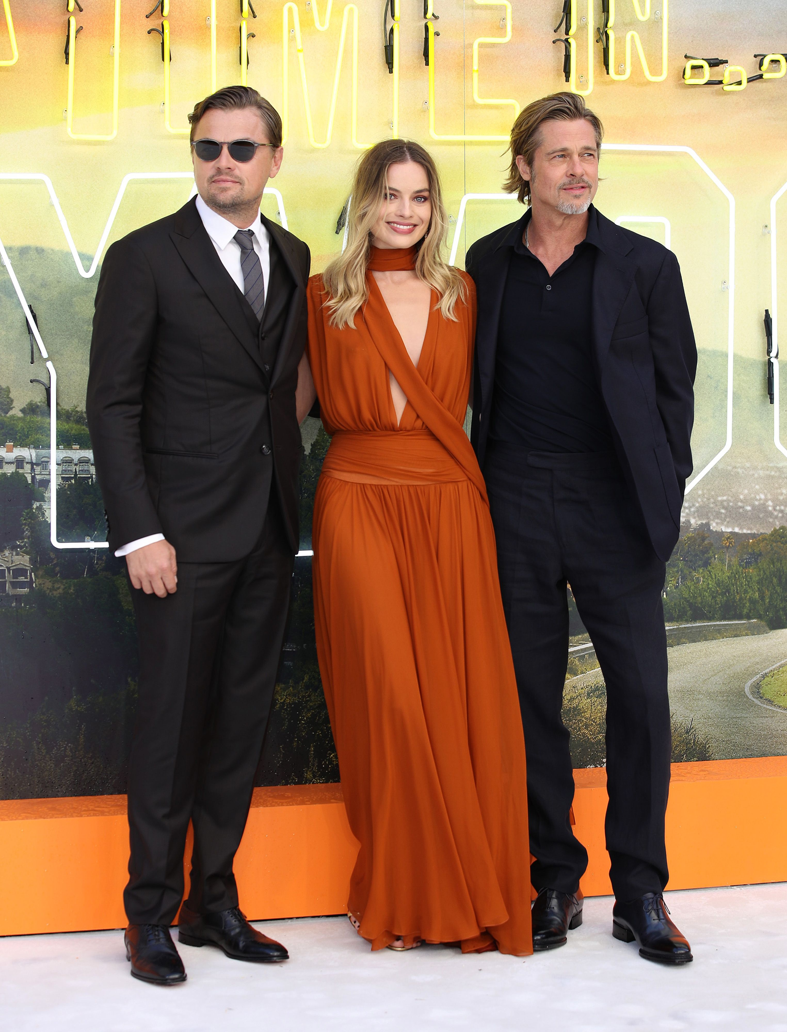 The Stars of Once Upon a Time...In Hollywood Had a Very Stylish Time...In London