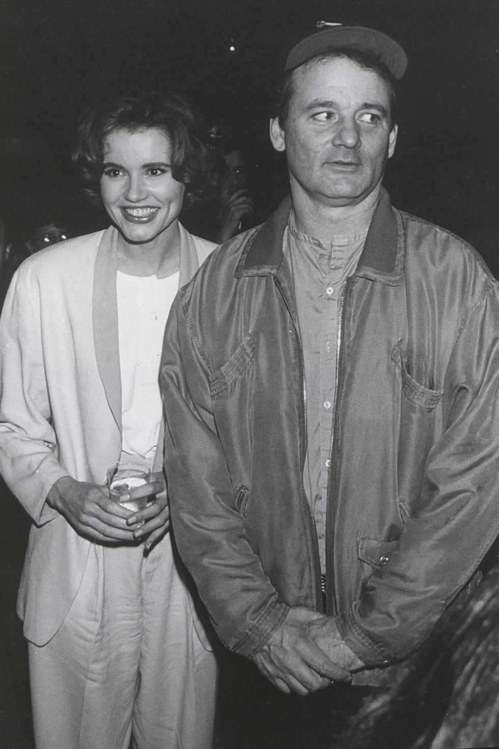 Bill Murray with Geena Davis in 1990.