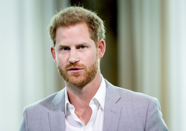 britains prince harry attends the adam tower project introduction and global partnership between bookingcom, skyscanner, ctrip, tripadvisor and visa in amsterdam on september 3, 2019 an initiative led by the duke of sussex to change the travel industry to better protect tourist destinations and communities that depend on it photo by koen van weel  anp  afp  netherlands out        photo credit should read koen van weelafp via getty images