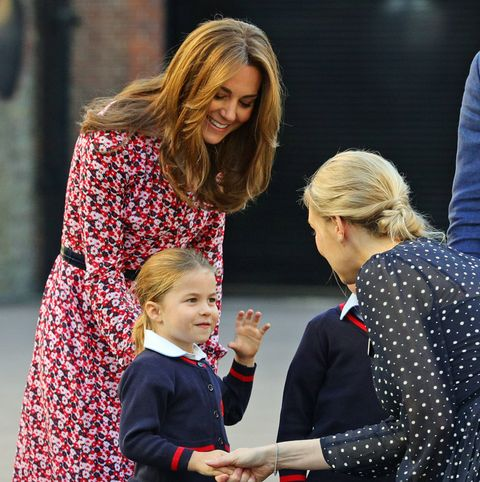Princess Charlotte's First Day Of School - kate middleton