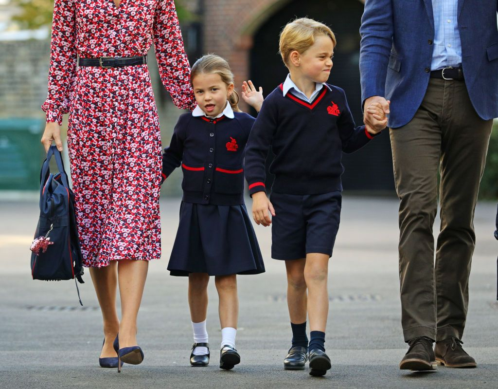 Princess Charlotte pictured on her first day at school
