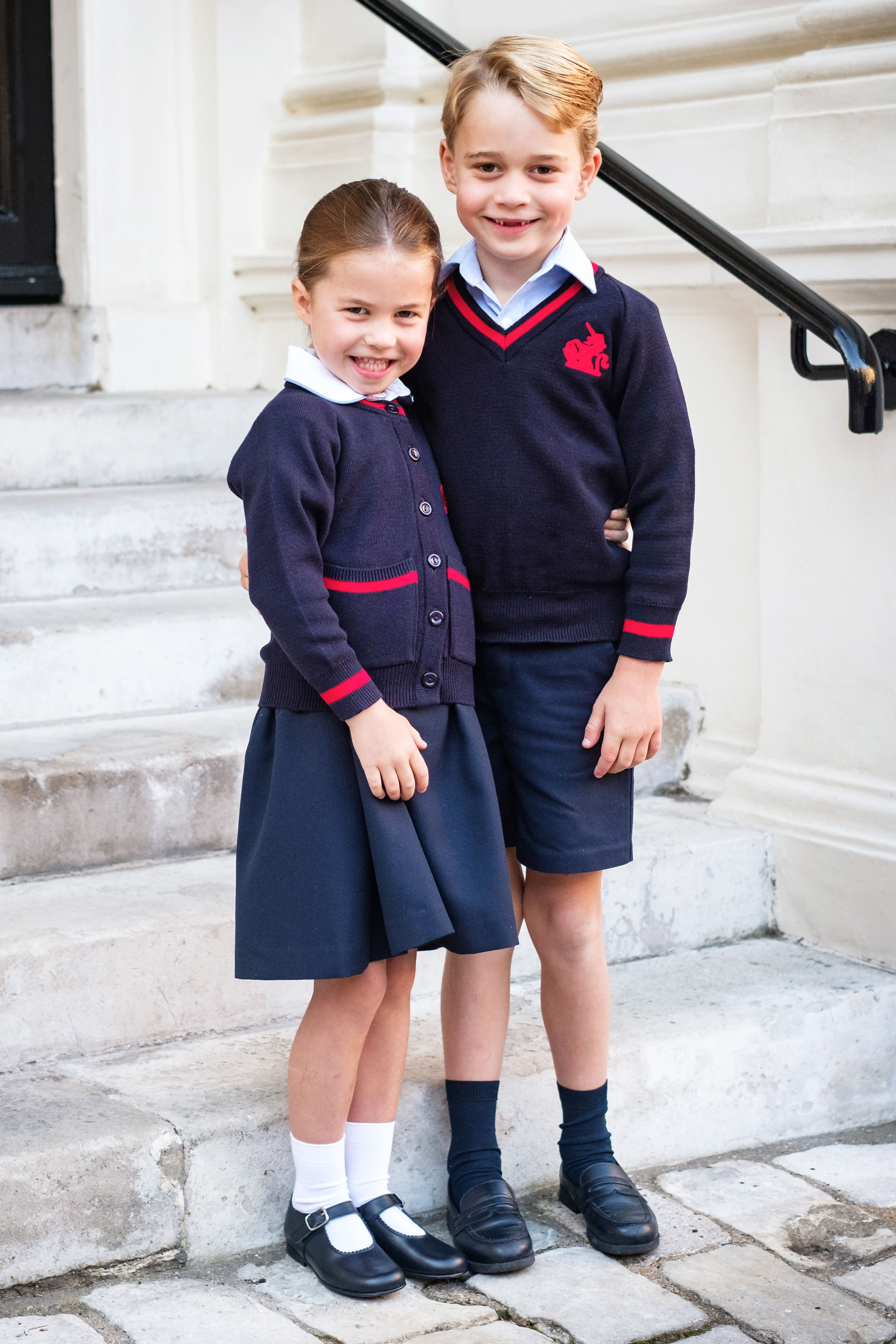 Kate and William Shared the Cutest Photo of Prince George and Princess Charlotte on Their First Day of School