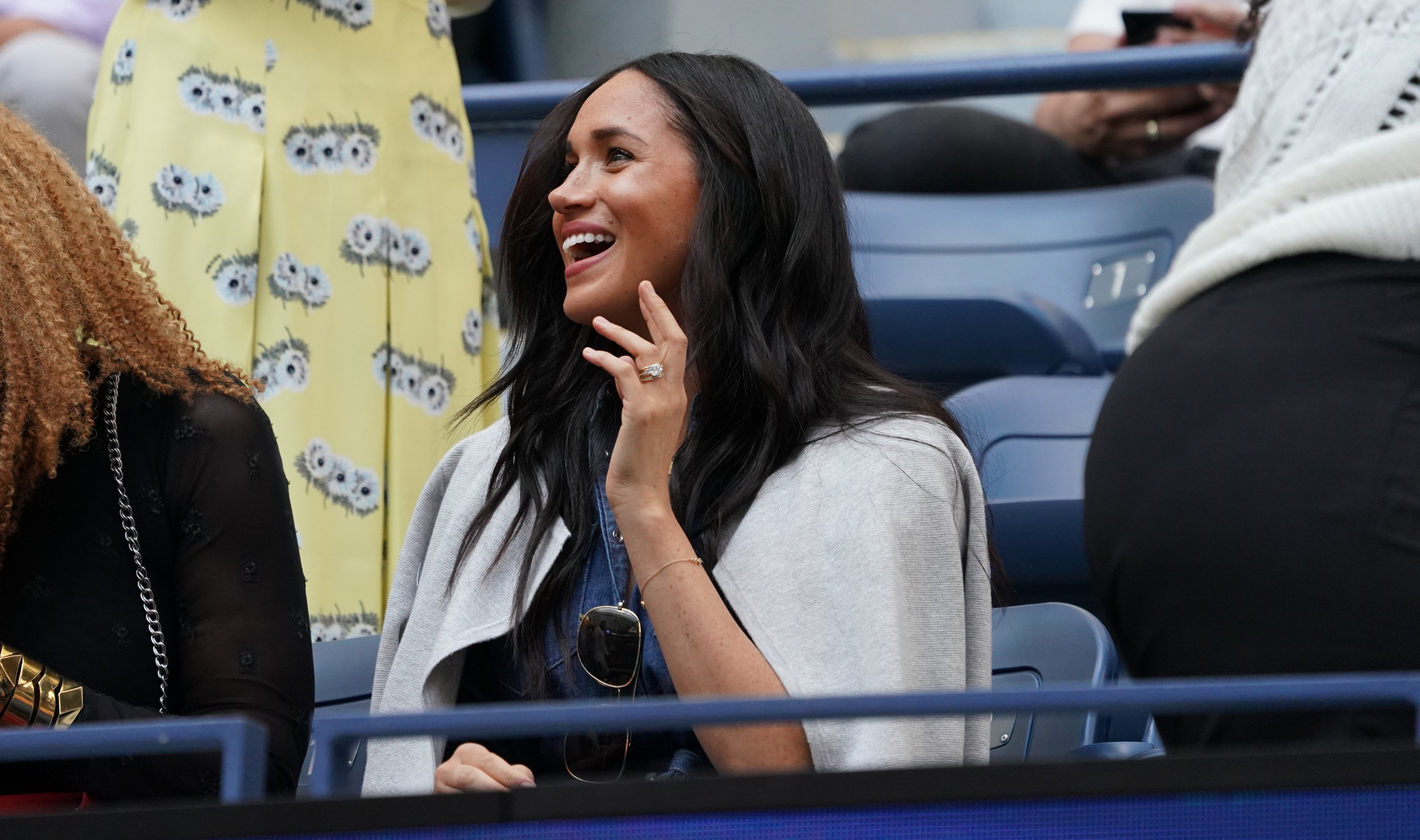 See Every Photo of Meghan Markle Cheering on Serena Williams at the US Open Final
