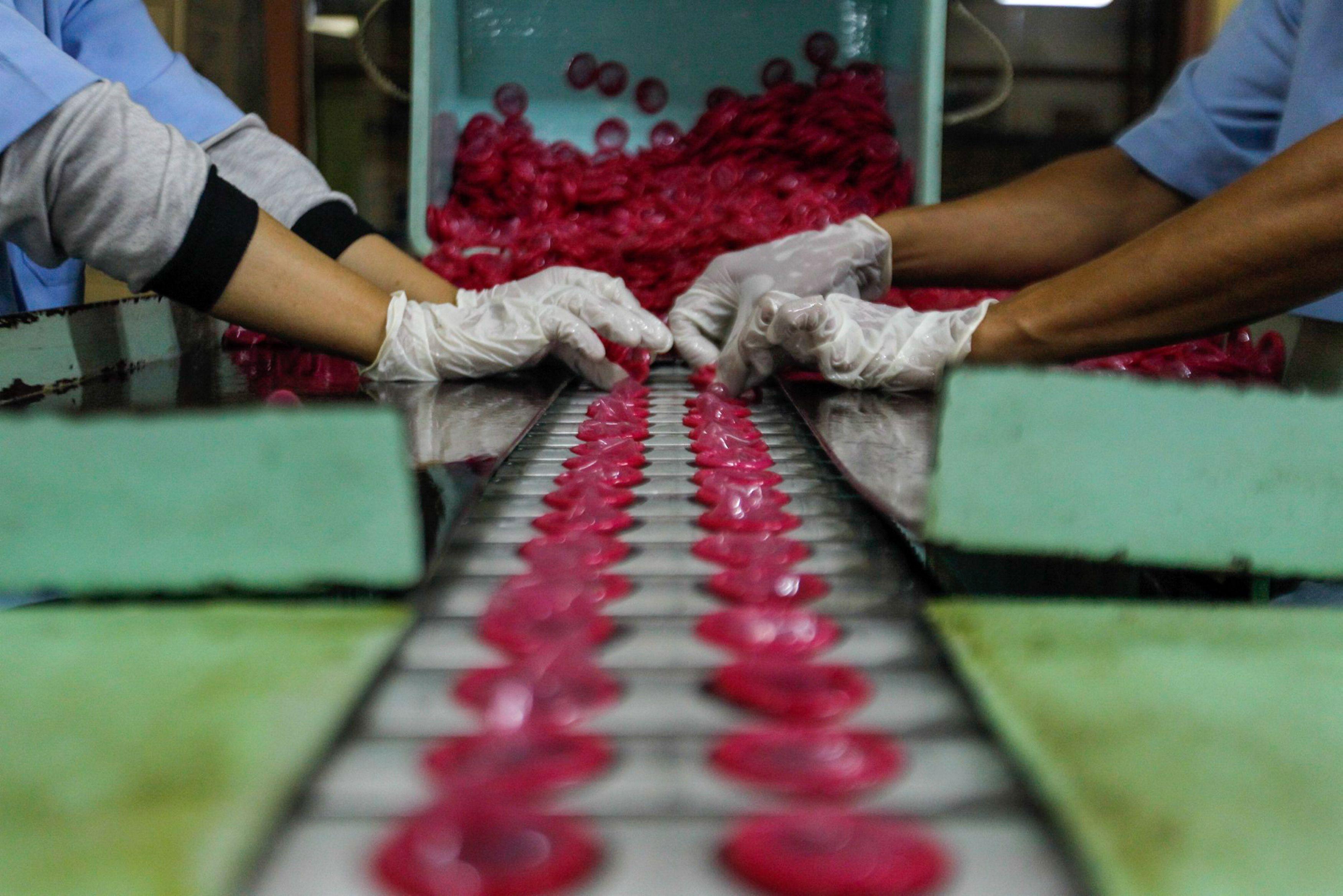 Coronavirus Condom Shortage - Condom Factory Coronavirus Lockdown