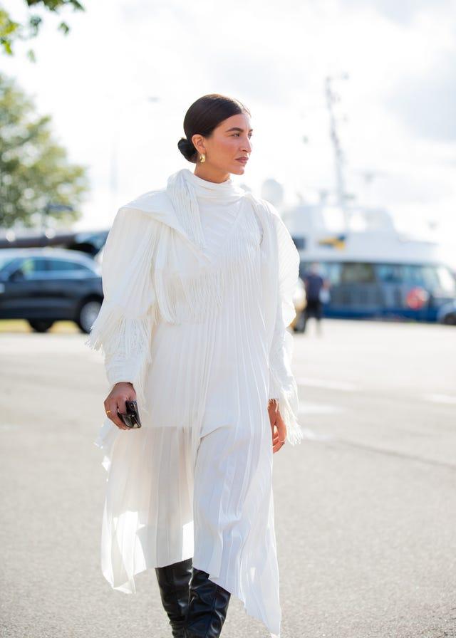 vestido encaje blanco zara tendencia