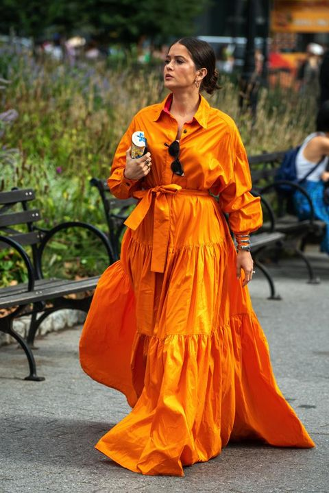 Orange, Street fashion, Costume,