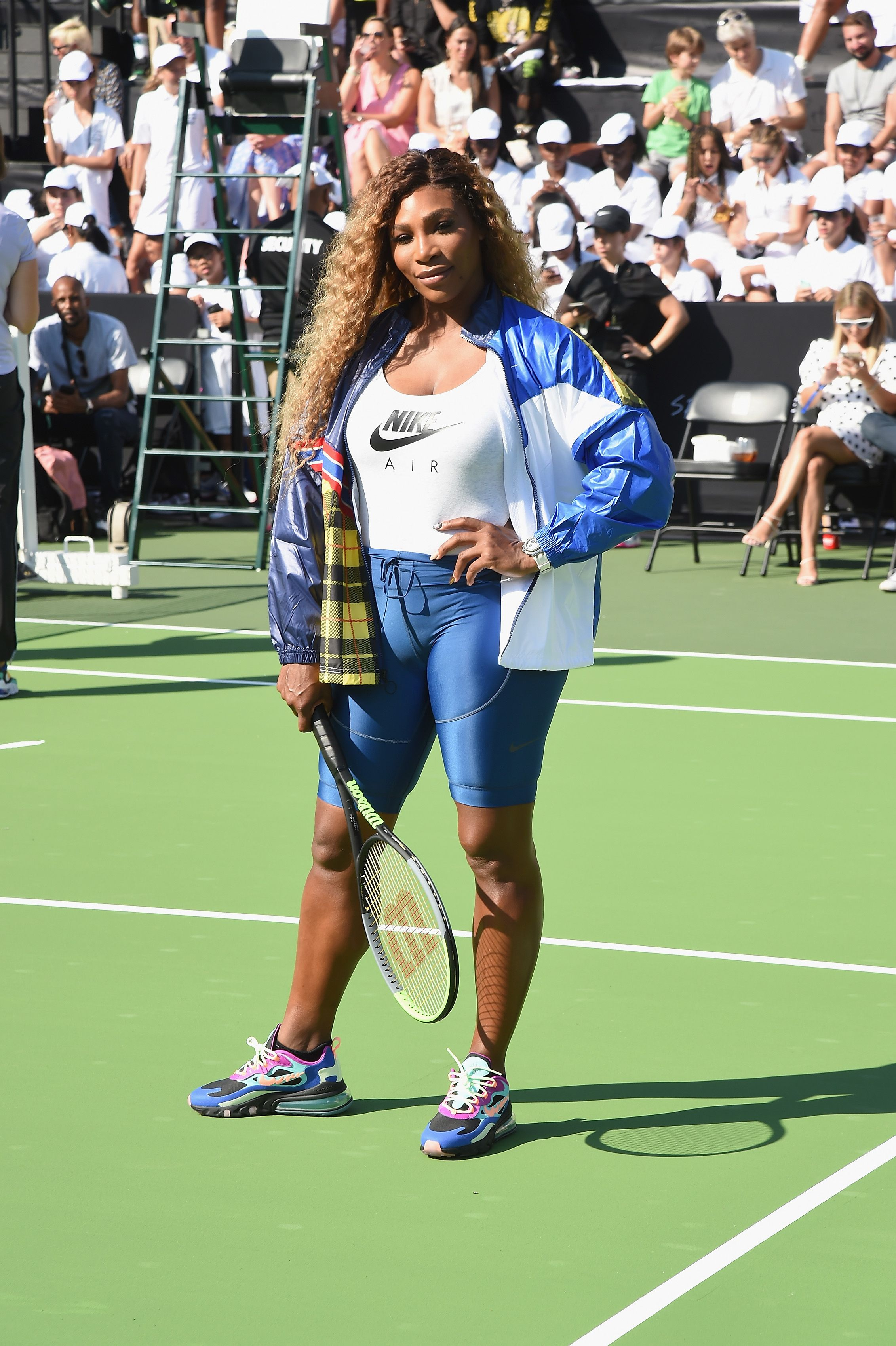 Serena Williams' Latest On-Court Look Is All About The Cycling Shorts