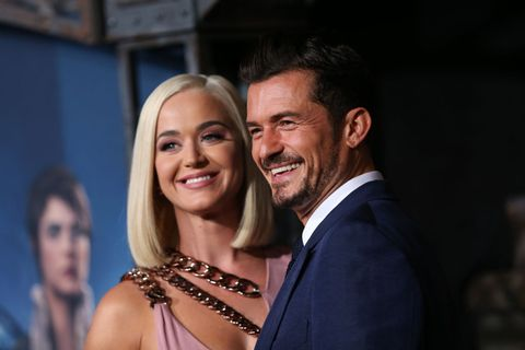 hollywood, california   august 21 katy perry and orlando bloom attend the la premiere of amazons carnival row at tcl chinese theatre on august 21, 2019 in hollywood, california photo by phillip faraonegetty images