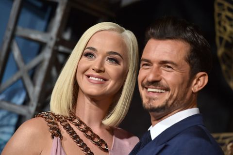 hollywood, california   august 21 katy perry and orlando bloom attend the la premiere of amazons carnival row at tcl chinese theatre on august 21, 2019 in hollywood, california photo by axellebauer griffinfilmmagic
