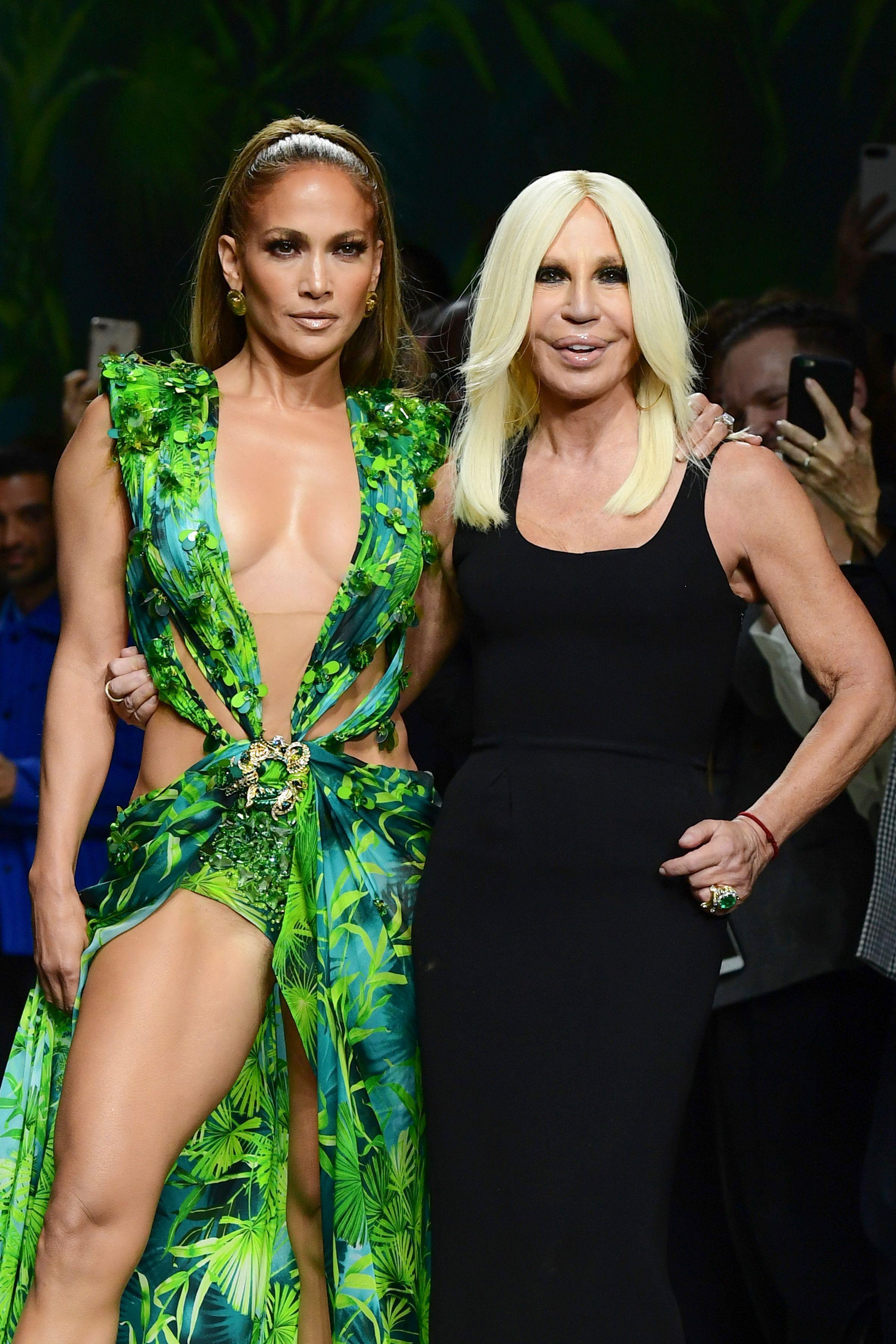 Jennifer Lopez Walks Milan Fashion Week in Her Famous Green