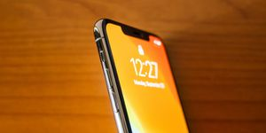 In this photo illustration the detail of an iPhone 11 Pro