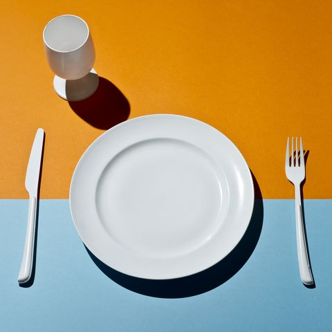 Empty Plate Table Setting