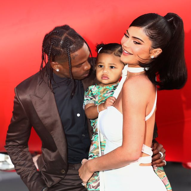 santa monica, california   august 27 travis scott and kylie jenner attend the travis scott look mom i can fly los angeles premiere at the barker hanger on august 27, 2019 in santa monica, california photo by tommaso boddigetty images for netflix