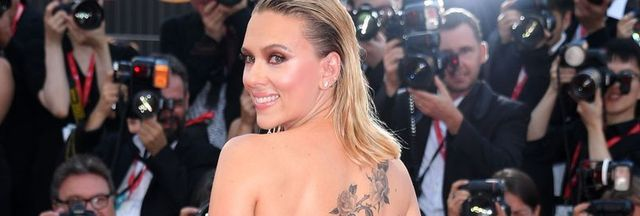 venice, italy   august 29  scarlett johansson attends the red carpet ahead of the marriage story screening during during the 76th venice film festival at sala grande on august 29, 2019 in venice, italy photo by daniele venturelliventurelli danielewireimage,