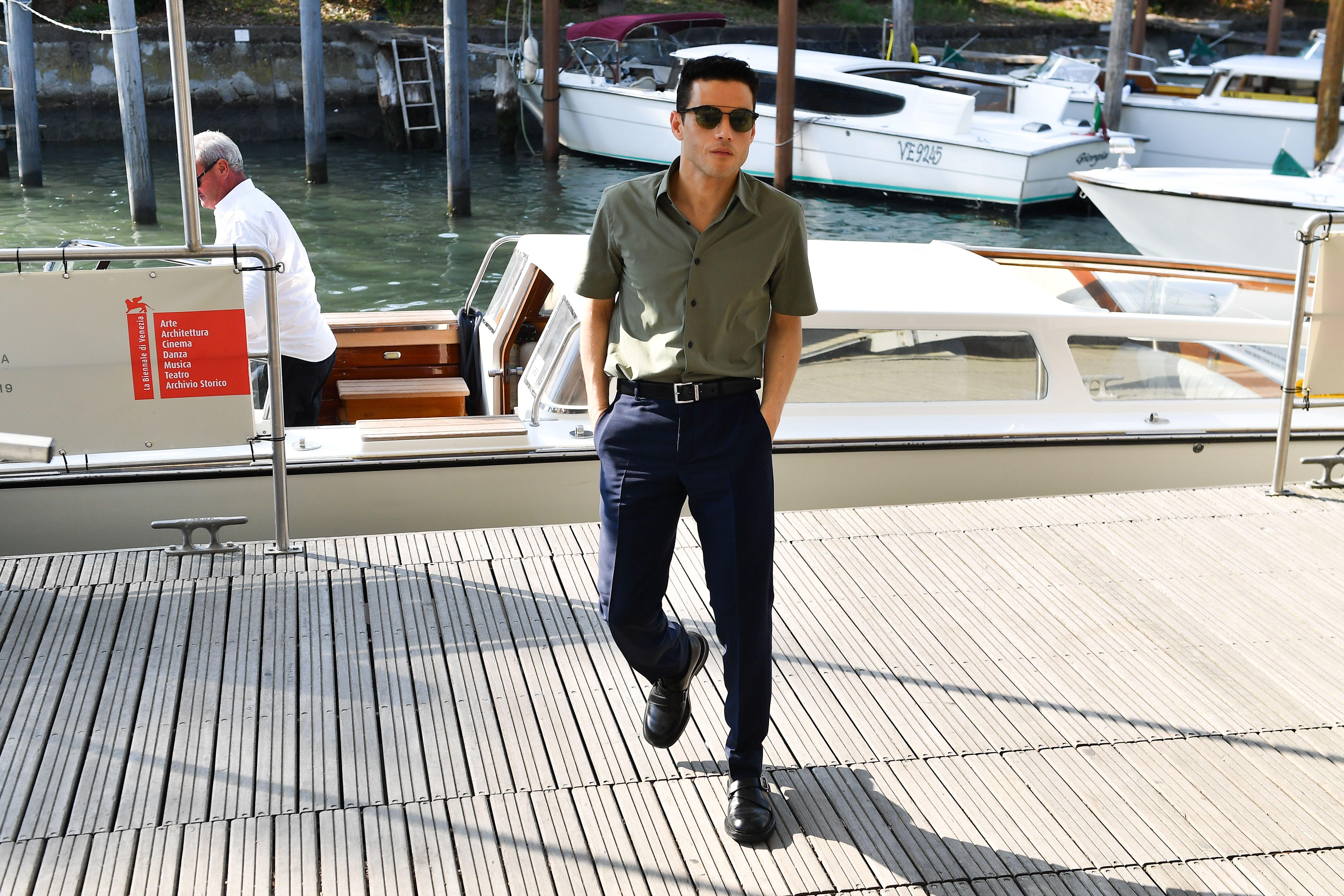 Nobody Pulls Off Short-Sleeved Shirts Like Rami Malek