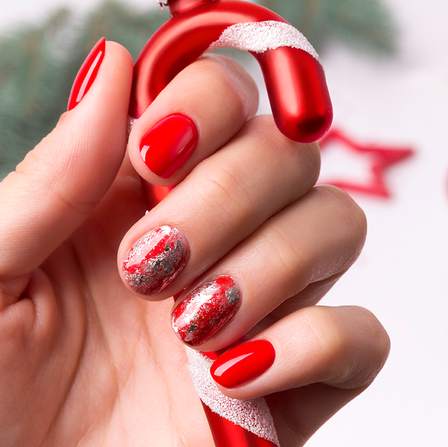 45 Festive Christmas Nail Art Ideas Easy Designs For Holiday Nails