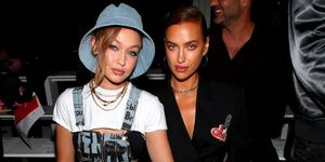 gigi-hadid-irina-shayk-Jeremy Scott-FrontRow-New-York-Fashion-Week
