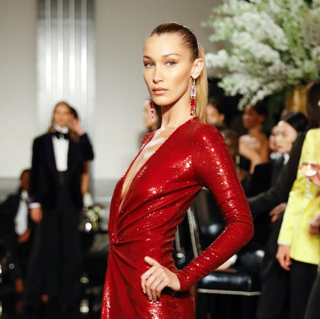 new york, new york   september 07 bella hadid walks the runway at the ralph lauren fall 2019 collection at william and wall on september 07, 2019 in new york city photo by jp yimgetty images