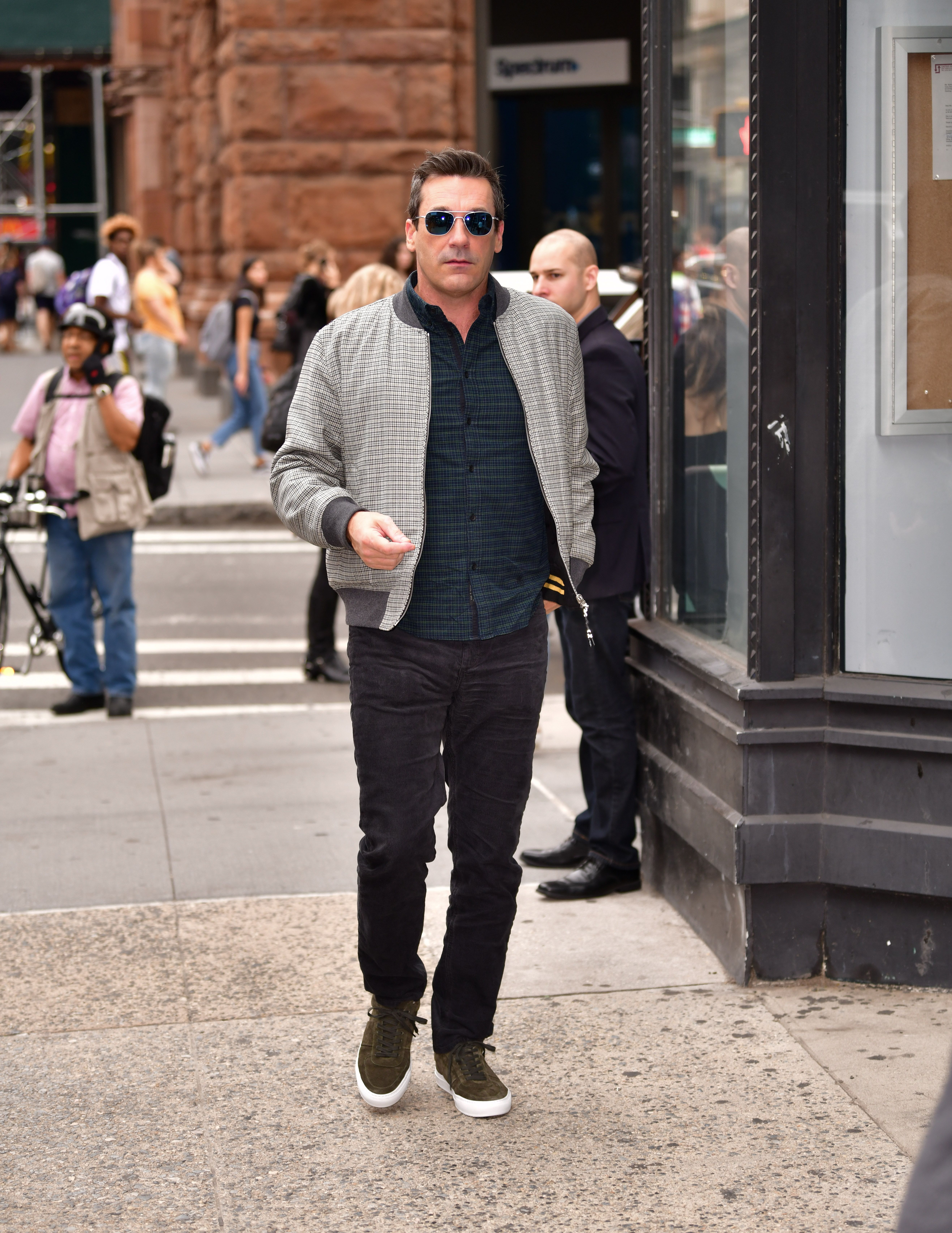 Jon Hamm Just Demonstrated How to Reach Expert Status in the Bomber Jacket Department