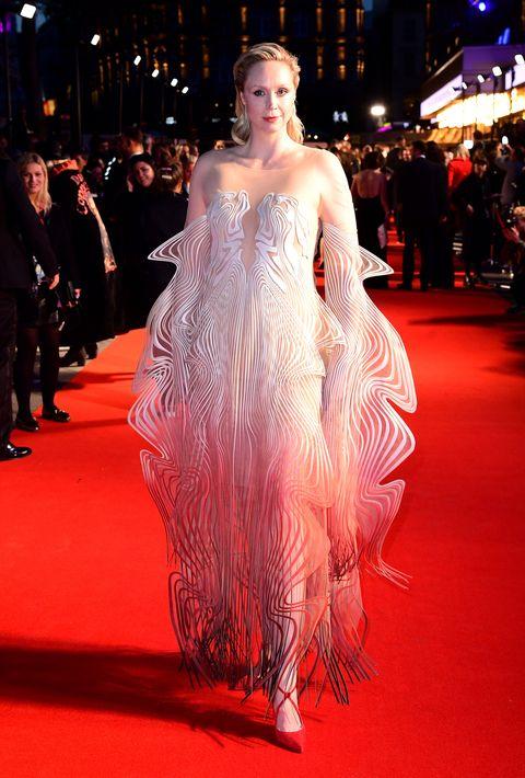Gwendoline Christie Wears A Psychedelic Iris Van Herpen Dress