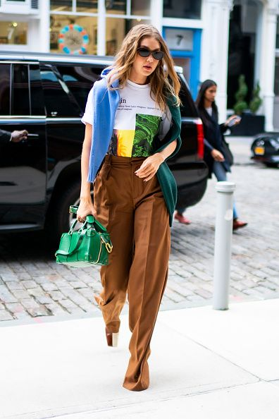 new york, new york   september 08 gigi hadid is seen in the east village on september 08, 2019 in new york city photo by gothamgc images