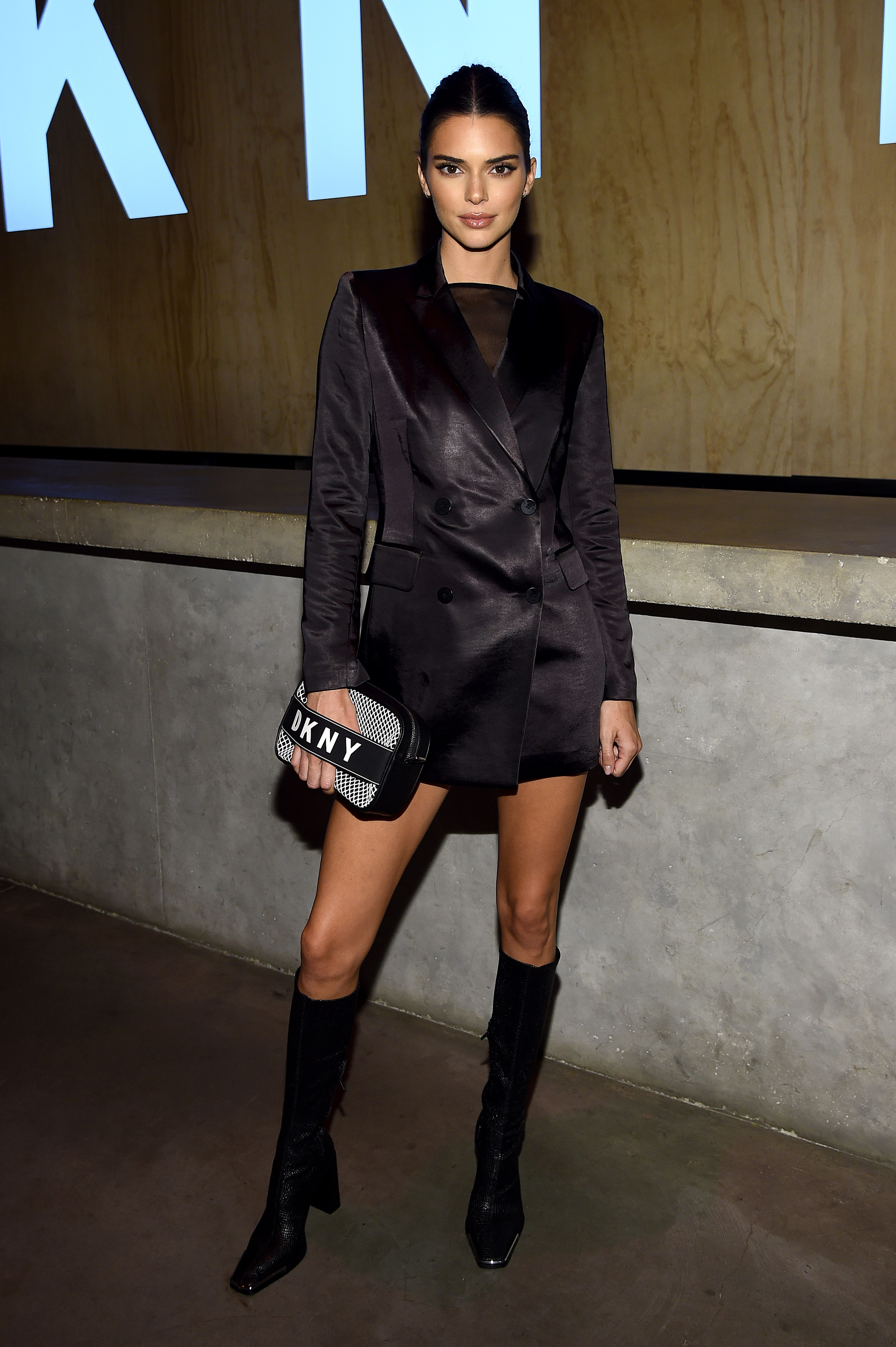 Kendall Jenner Partied in a Blazer, No Pants, and Knee-High Boots