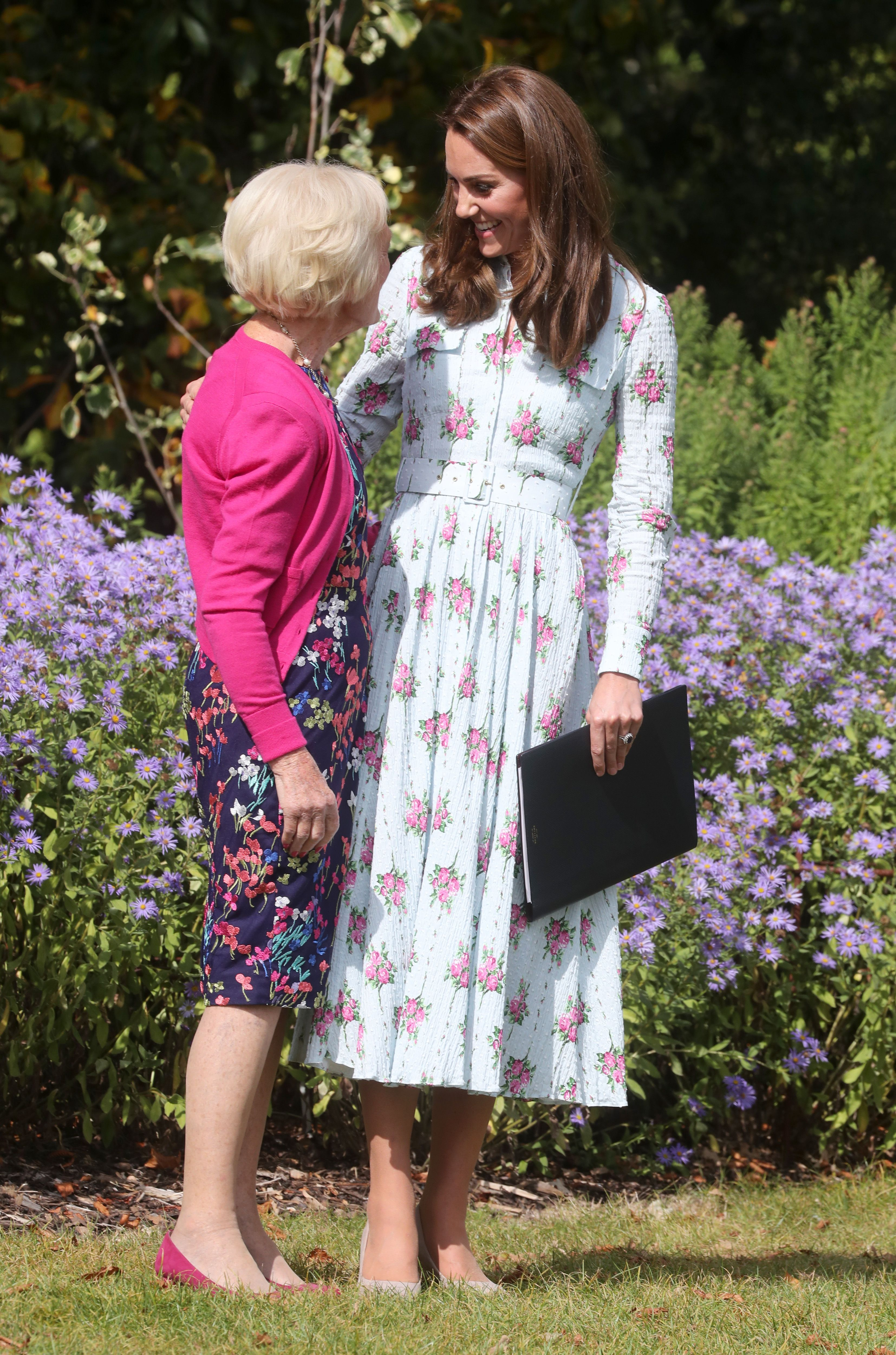 Kate Middleton and Mary Berry Just Hung Out at the Garden Kate Designed