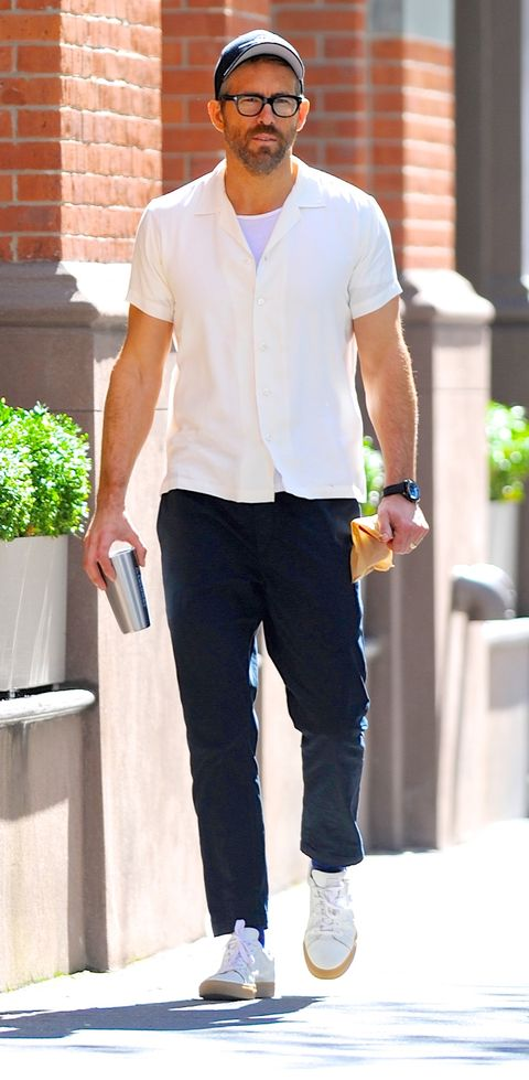 new york, ny   october 04  ryan reynolds is seen out and about in manhattan on  october 4, 2019 in new york city  photo by robert kamaugc images