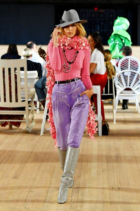 Fashion, Fashion show, Clothing, Pink, Runway, Fashion model, Footwear, Fashion design, Street fashion, Spring,