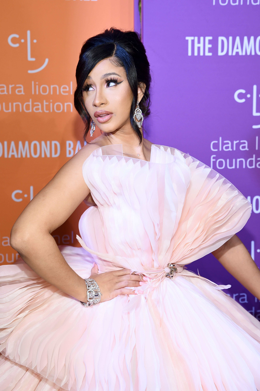 Cardi B Wore A Giant Pink Princess Dress For Rihanna S 2019 Diamond Ball