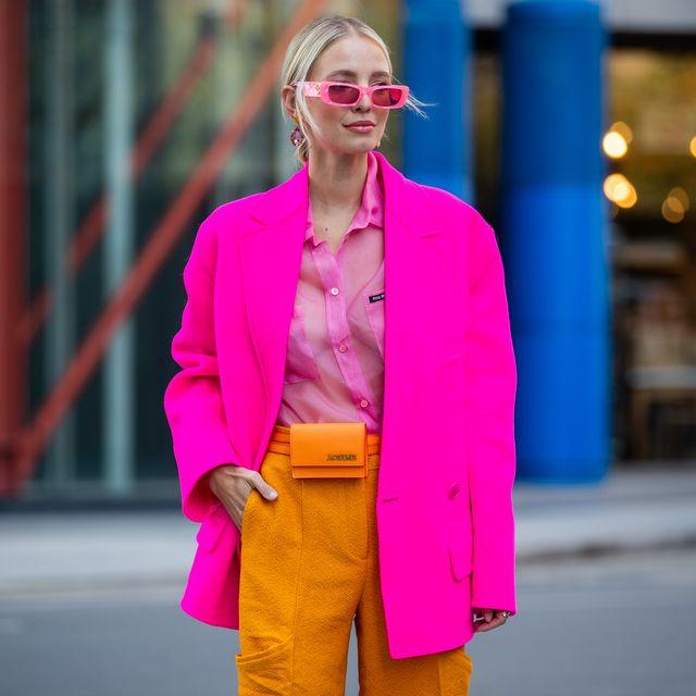 trendkleur 2020 neon streetstyle vrouw