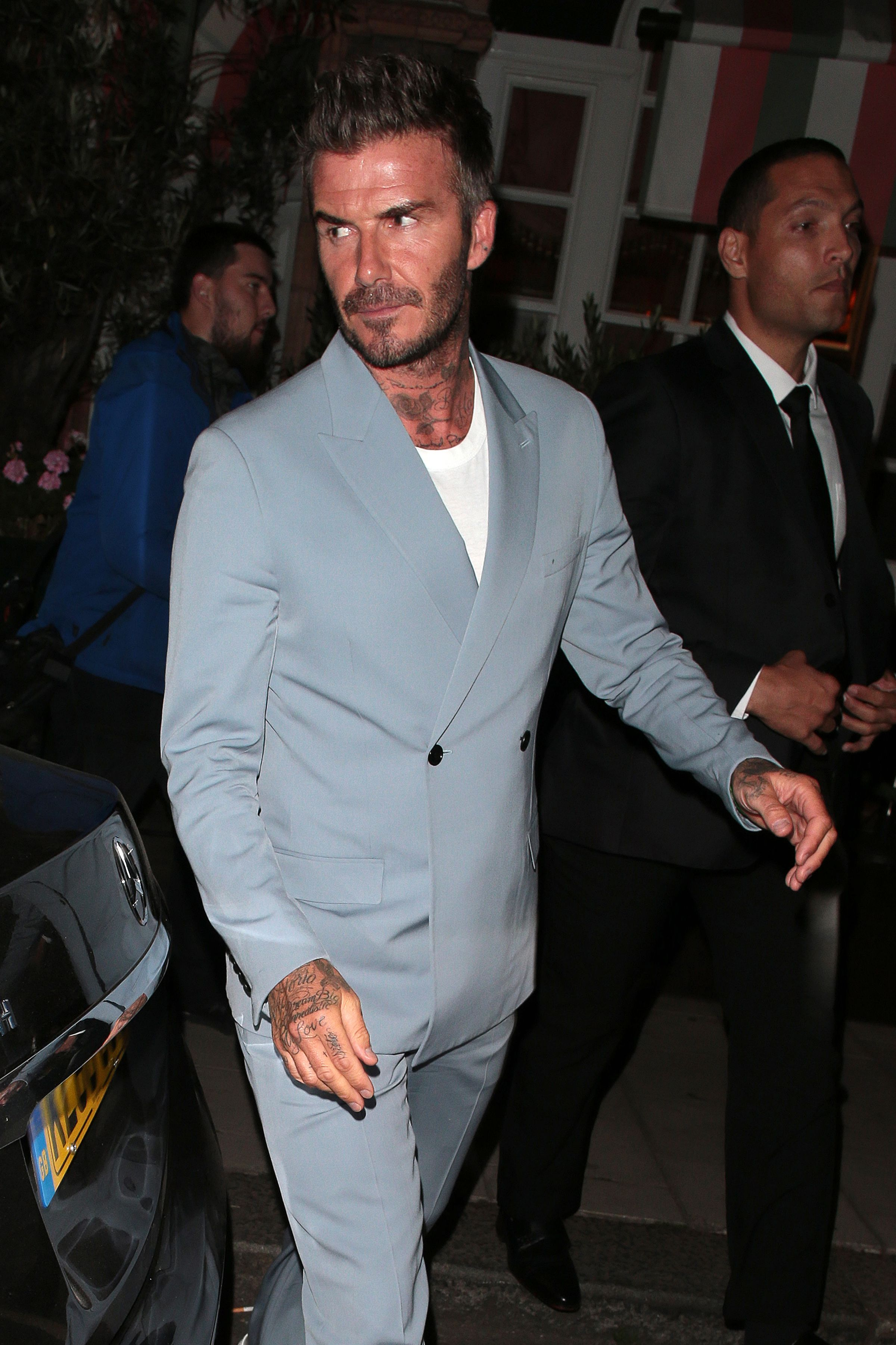 David Beckham Is Dressed To Party Like It's 1989