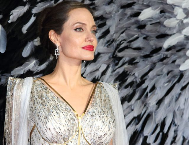 london, united kingdom   20191009 angelina jolie attends the maleficent mistress of evil european film premiere at the odeon imax waterloo in london photo by keith mayhewsopa imageslightrocket via getty images